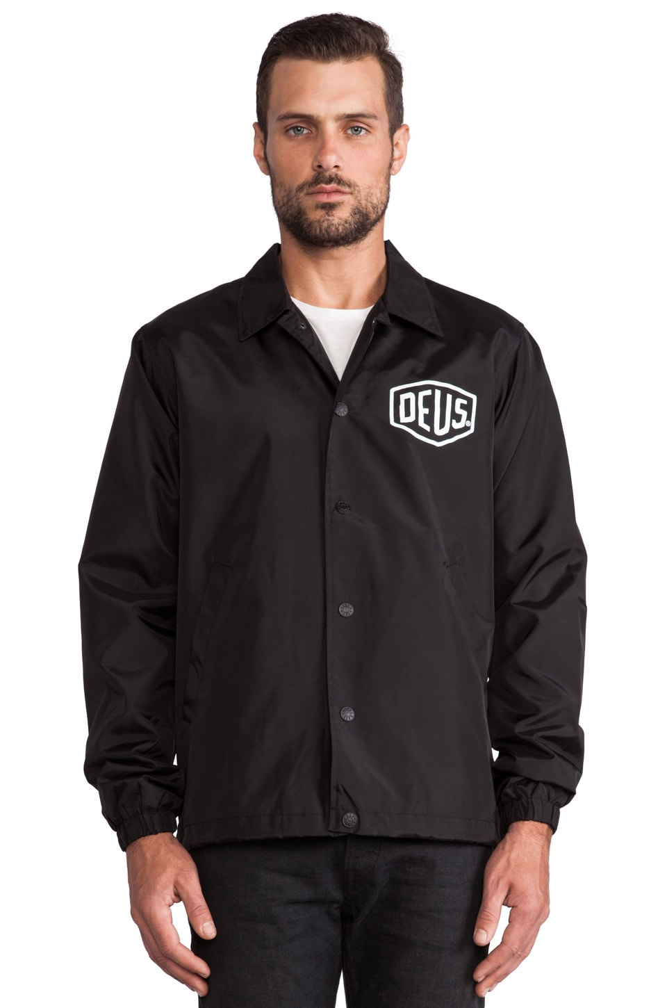 Deus Ex Machina Venice LA Coach Jacket in Black