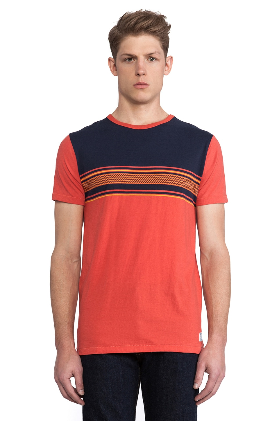Deus Ex Machina Peanut Tee in Tomato