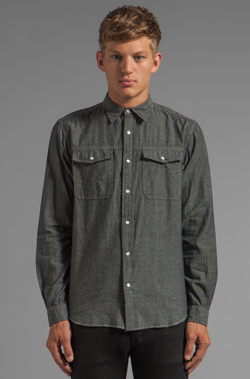 Deus Ex Machina Zeb Minus Shirt in Washed Black