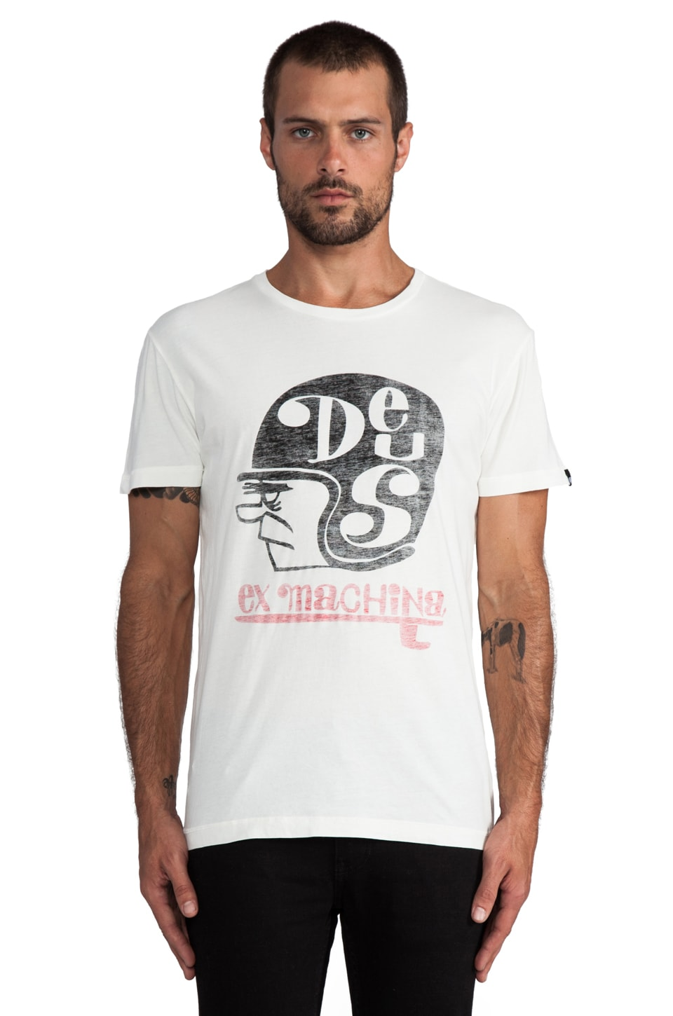 Deus Ex Machina Helmet Lang Tee in White
