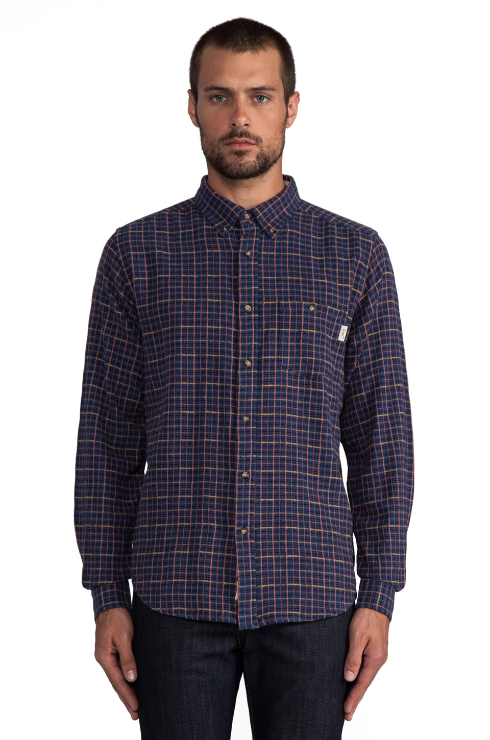 Deus Ex Machina Mixed Lollies Shirt in Black/Blue Steel