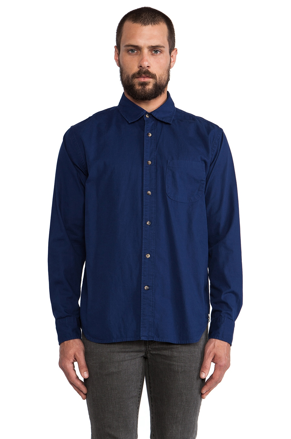 Deus Ex Machina The Stan Shirt in Navy