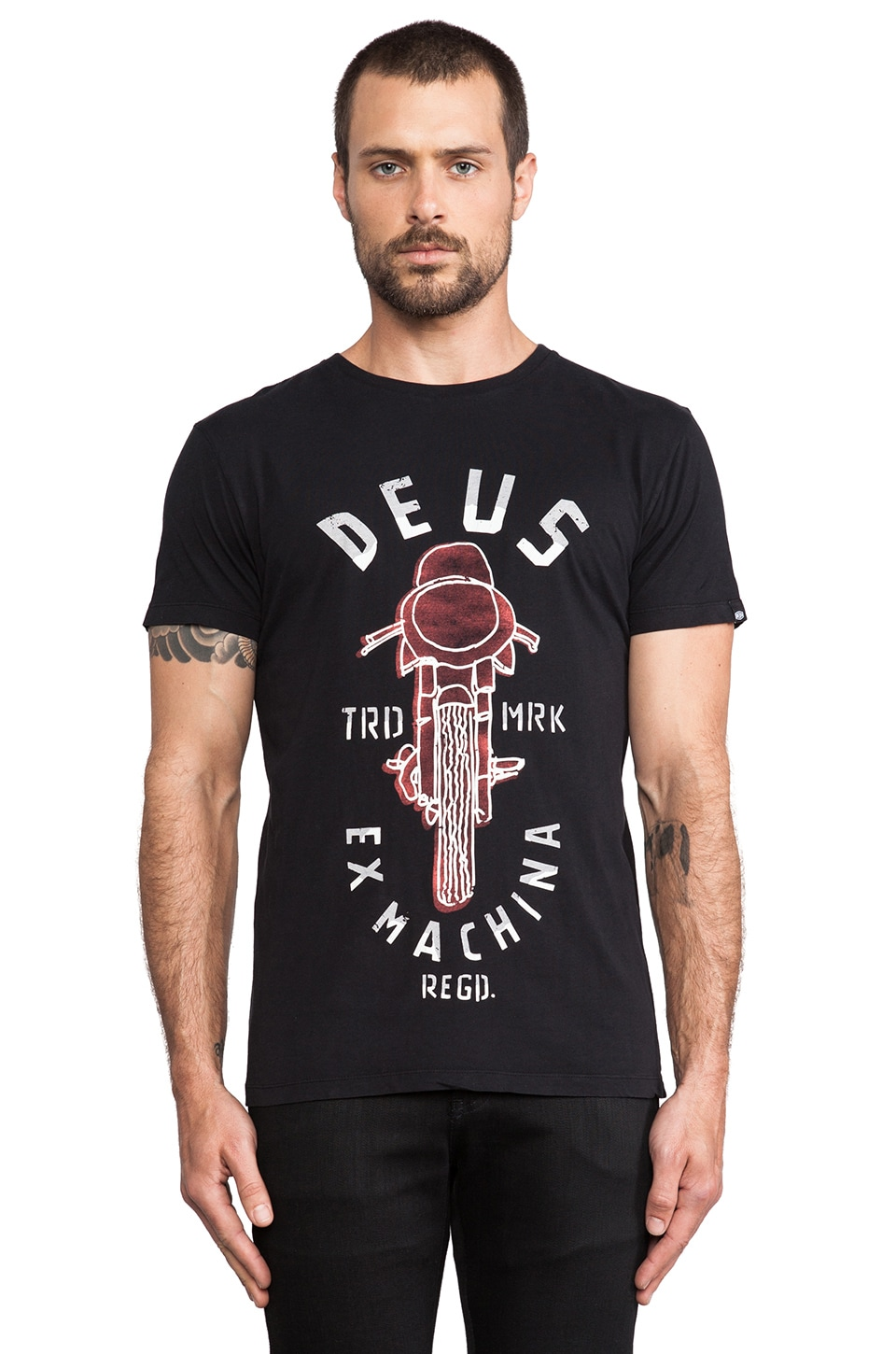 Deus Ex Machina Melrose T-Shirt in Black