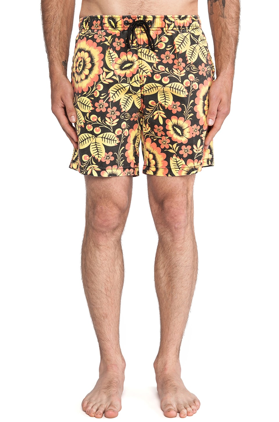 Deus Ex Machina Bates Nana Boardshort in Black