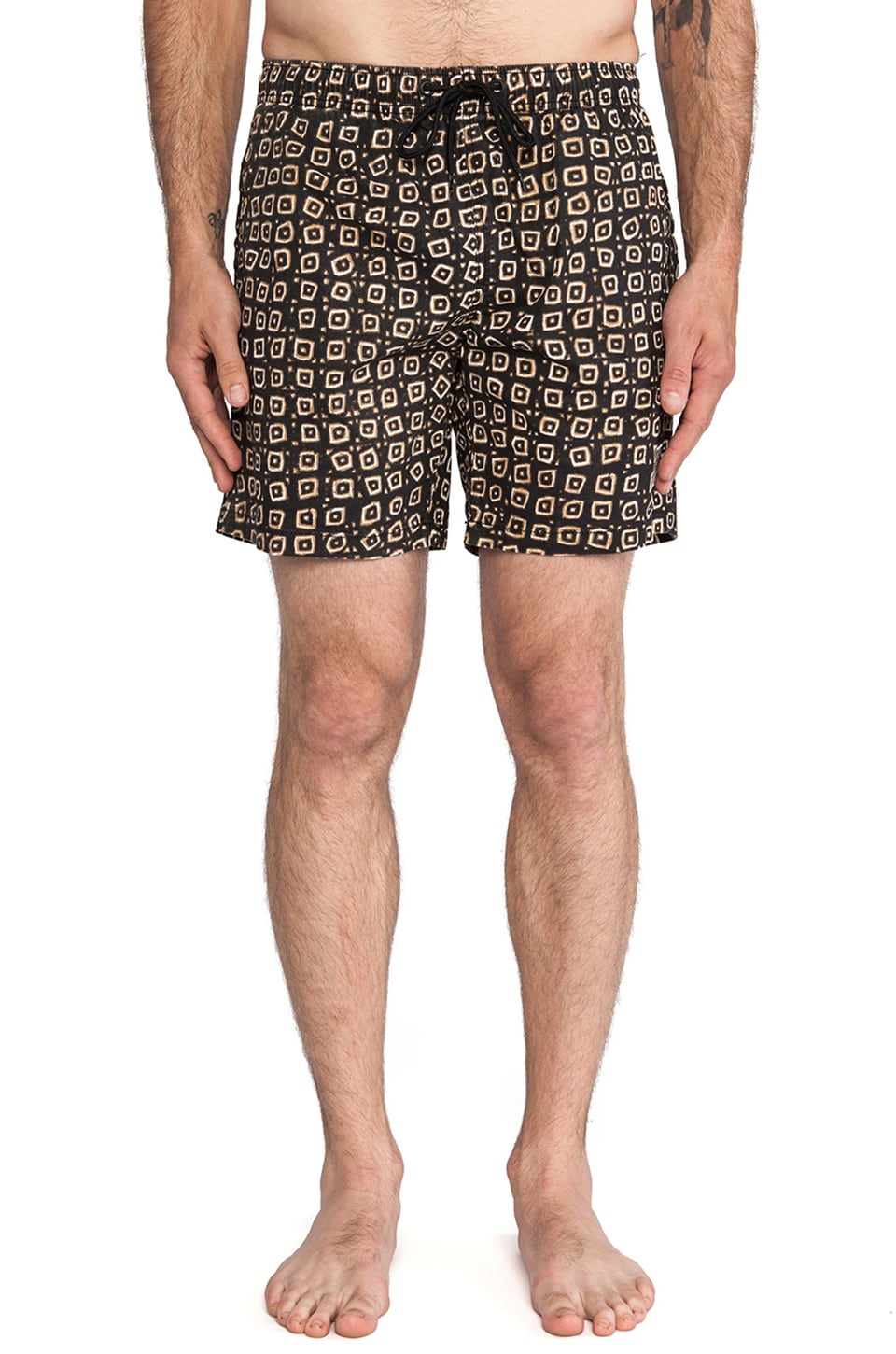 Deus Ex Machina Bates Marley Boardshort in Brown