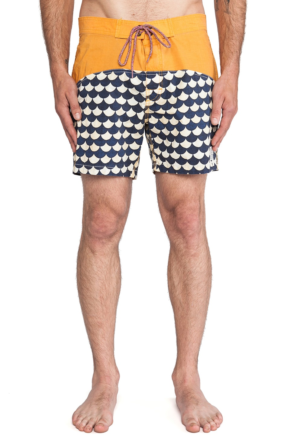 Deus Ex Machina Old Mans Boardshort in Beeswax