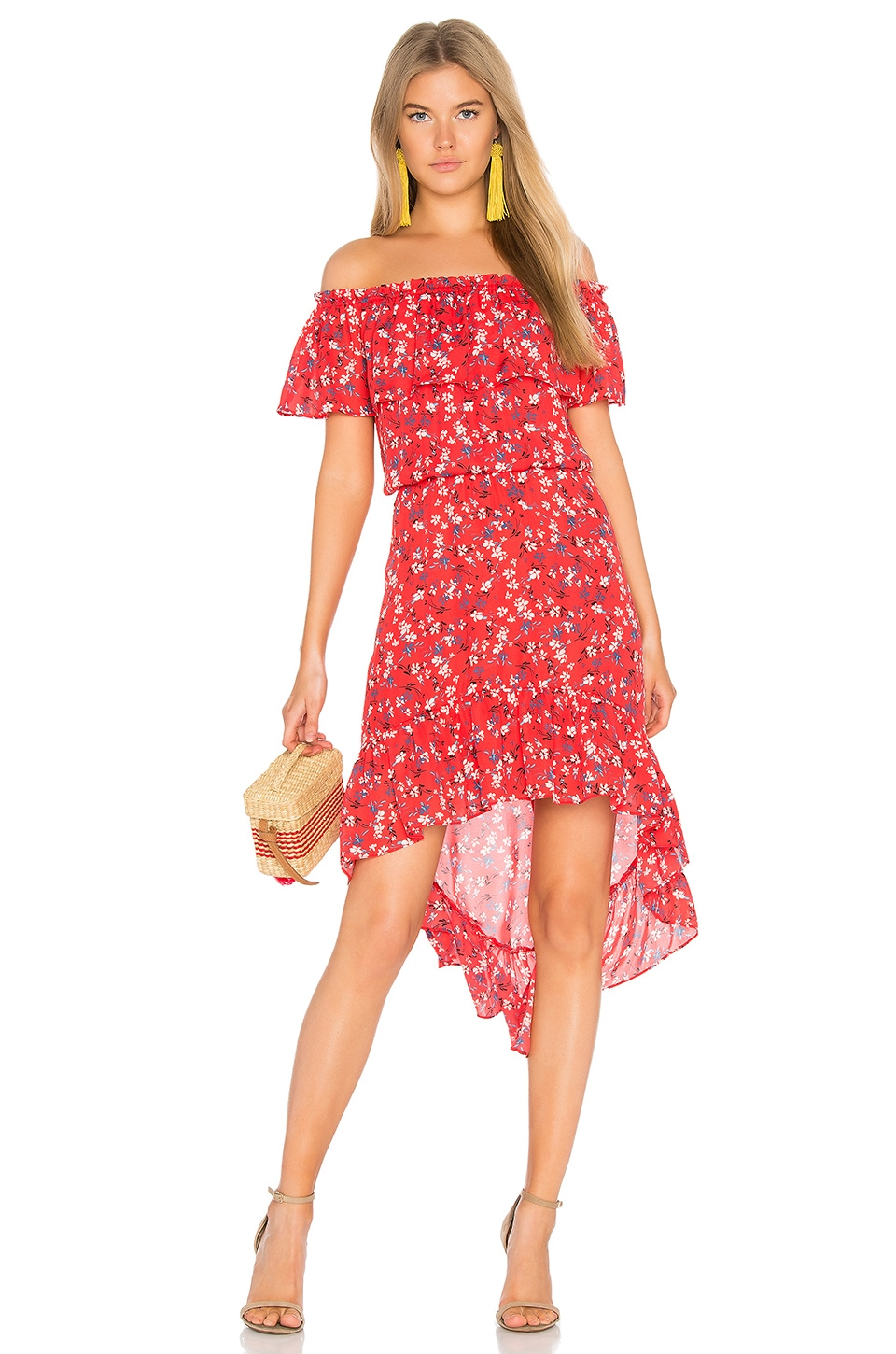 devlin Carrie Dress in Apple Ditsy Floral