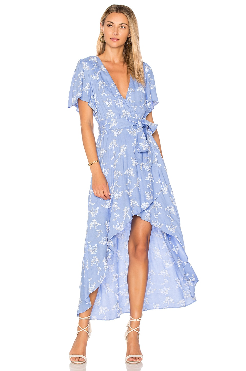 devlin Pax Wrap Dress in Cornflower