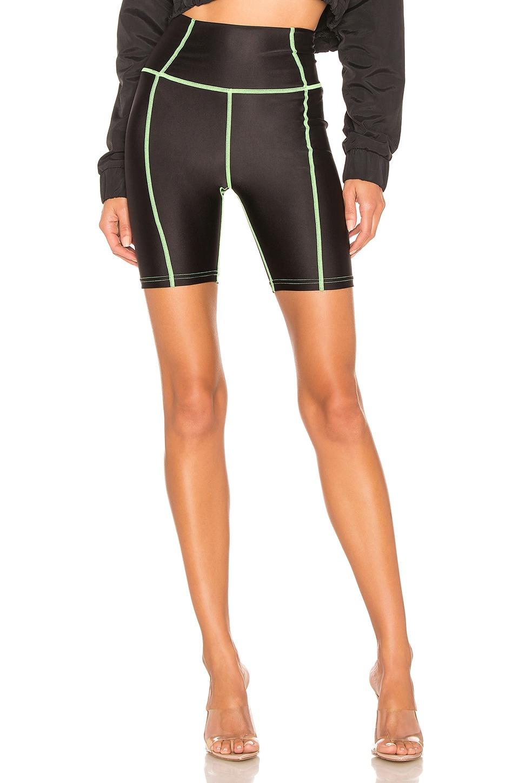 DANIELLE GUIZIO Bike Short in Black & Green