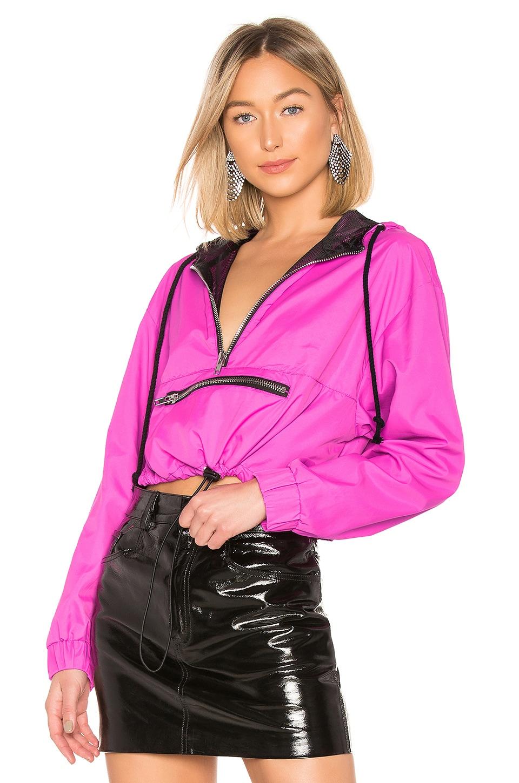 DANIELLE GUIZIO x REVOLVE Zipper Pocket Jacket in Pink