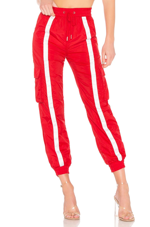DANIELLE GUIZIO x REVOLVE Track Pant in Red & White