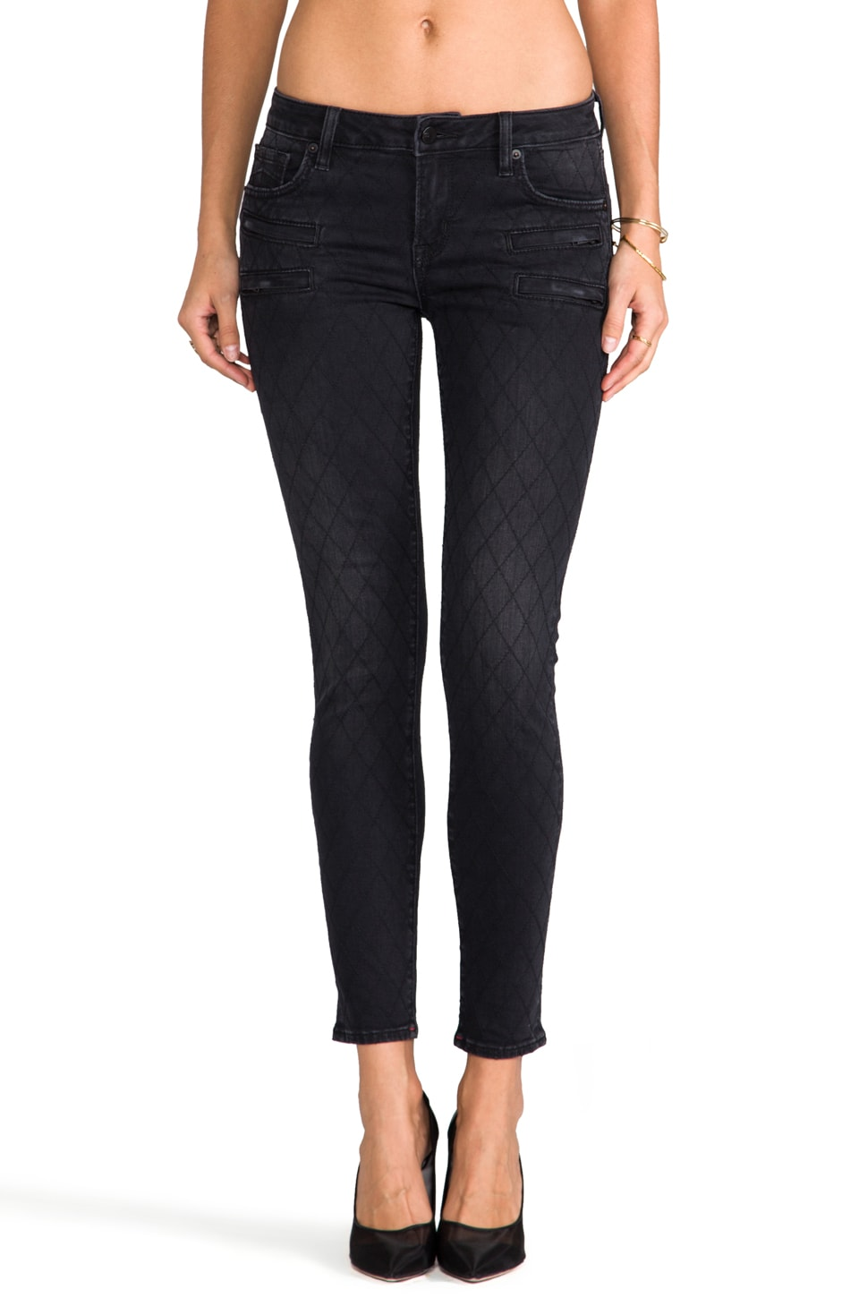 D-ID Florence Ankle Biker Skinny in Darknight