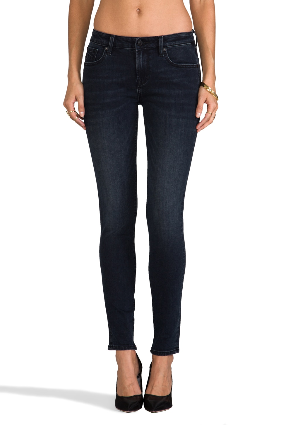 D-ID New York Skinny in Blue Black