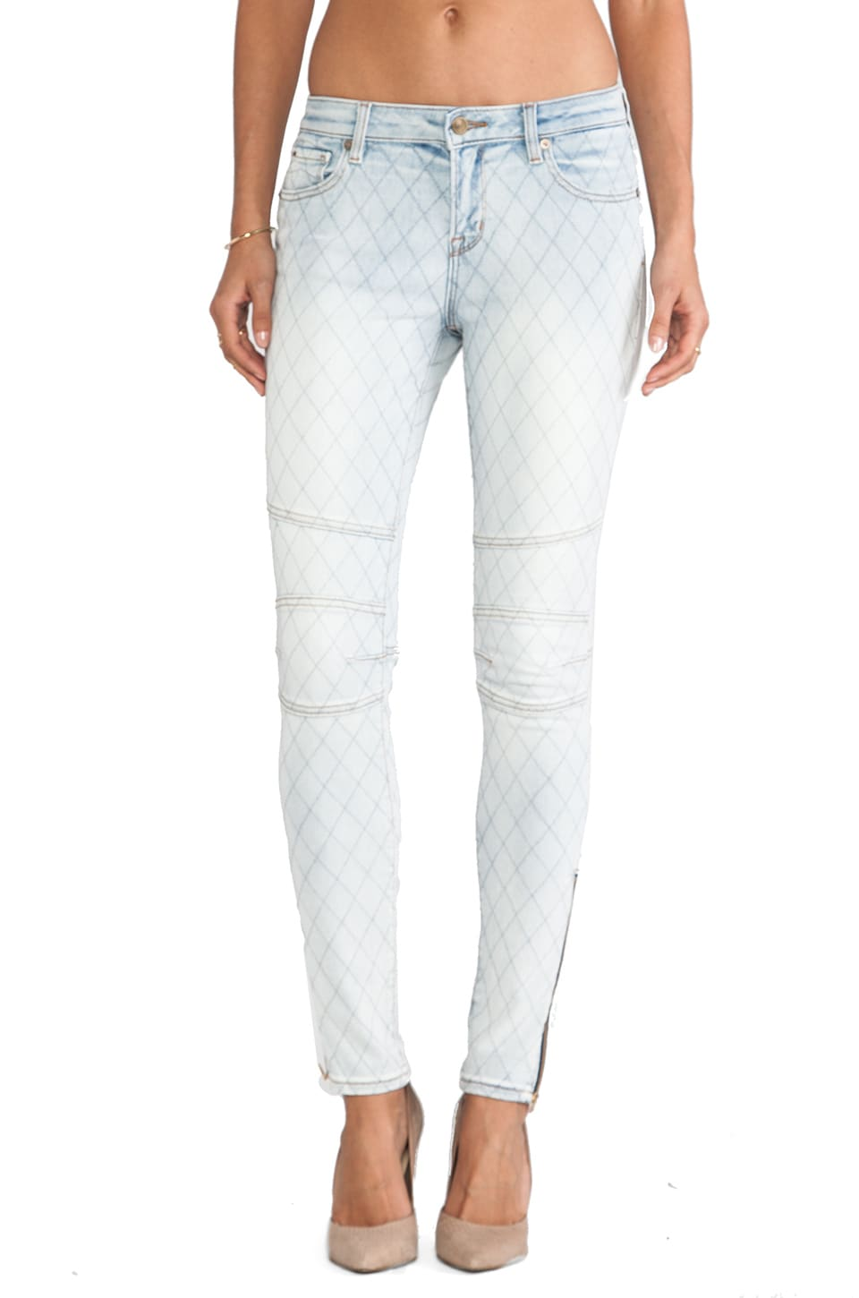 D-ID Biker Skinny in Light Blue
