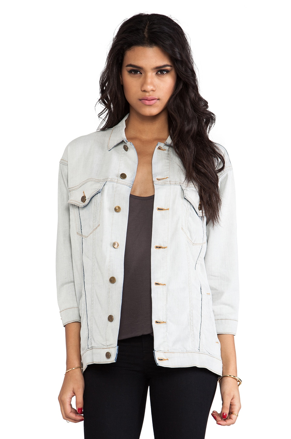 D-ID Klum Denim Jacket in Whitened