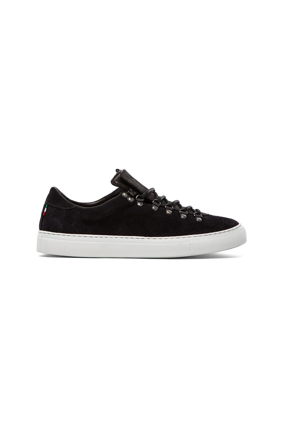 Diemme Marostica Low Velour Suede in Black