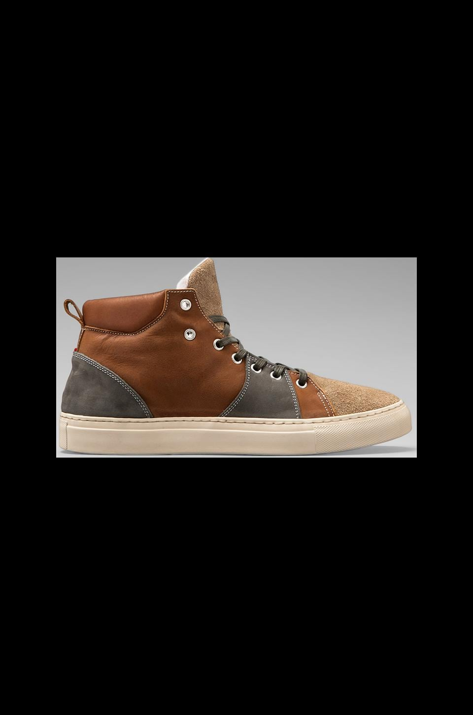 Diemme Parioli Hi Top Sneaker in Cognac