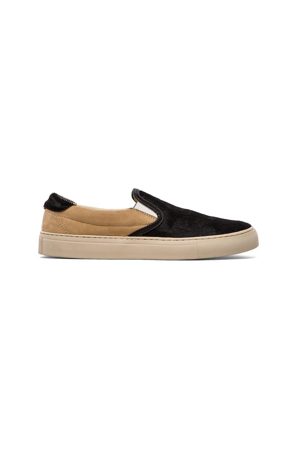 Diemme Garda Pony Hair Slip On in Black & Nude