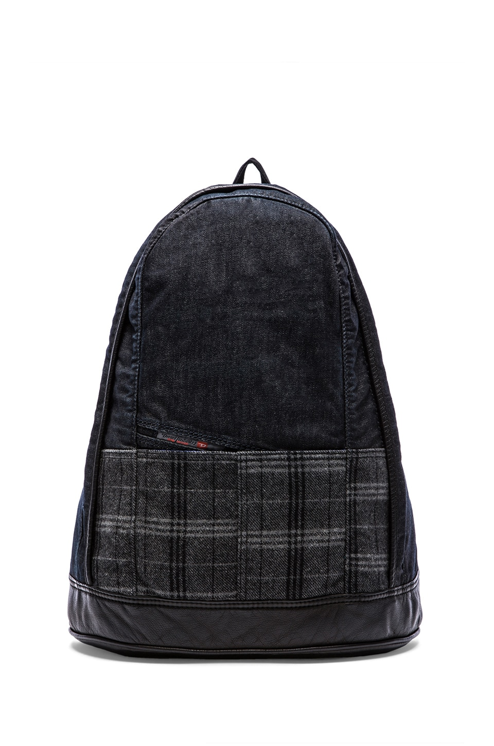 Diesel Tweede To the Brave Ride II Backpack in Blue Denim & Grey Tartan