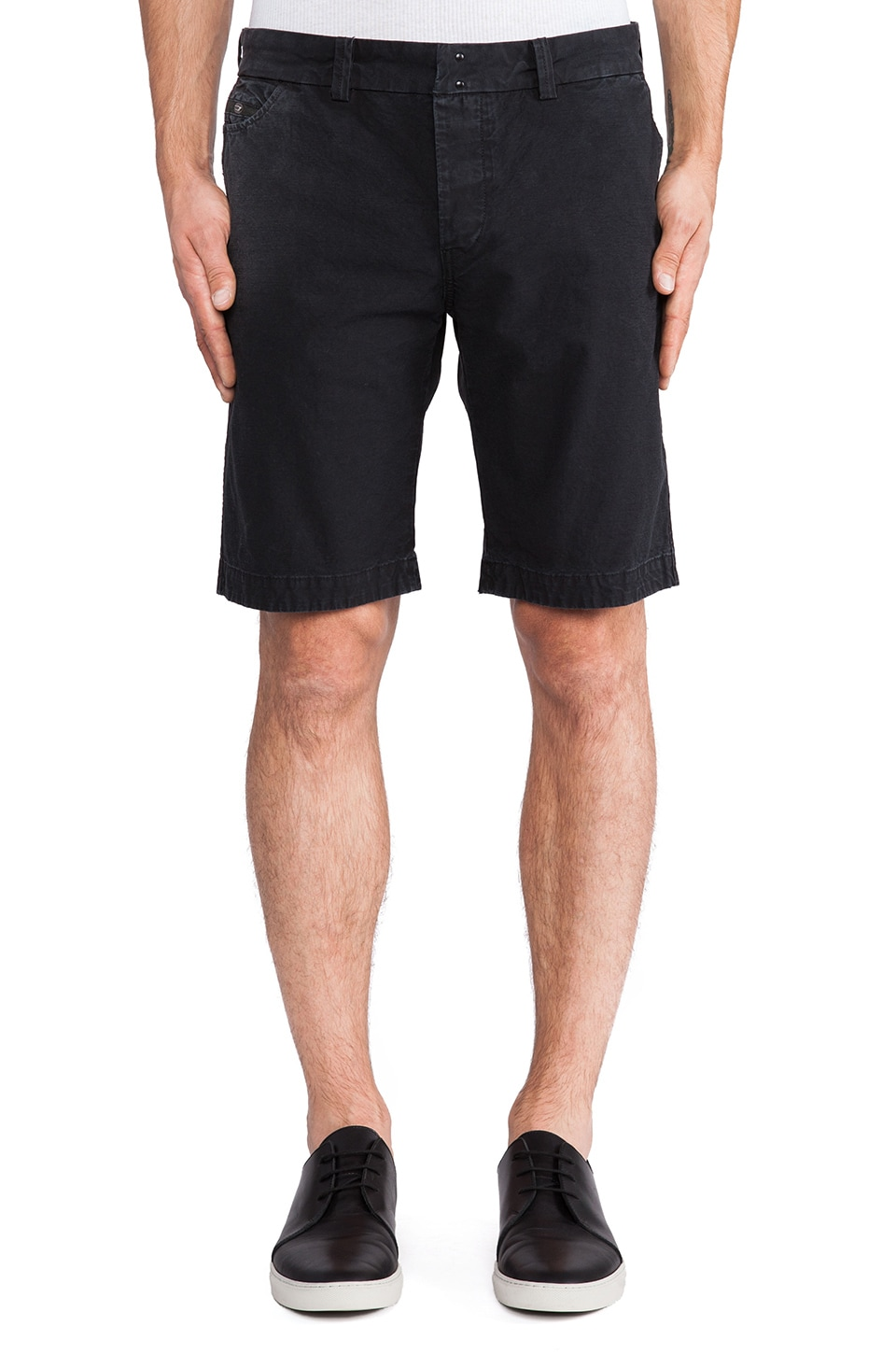 Diesel Chino Shorts in Black