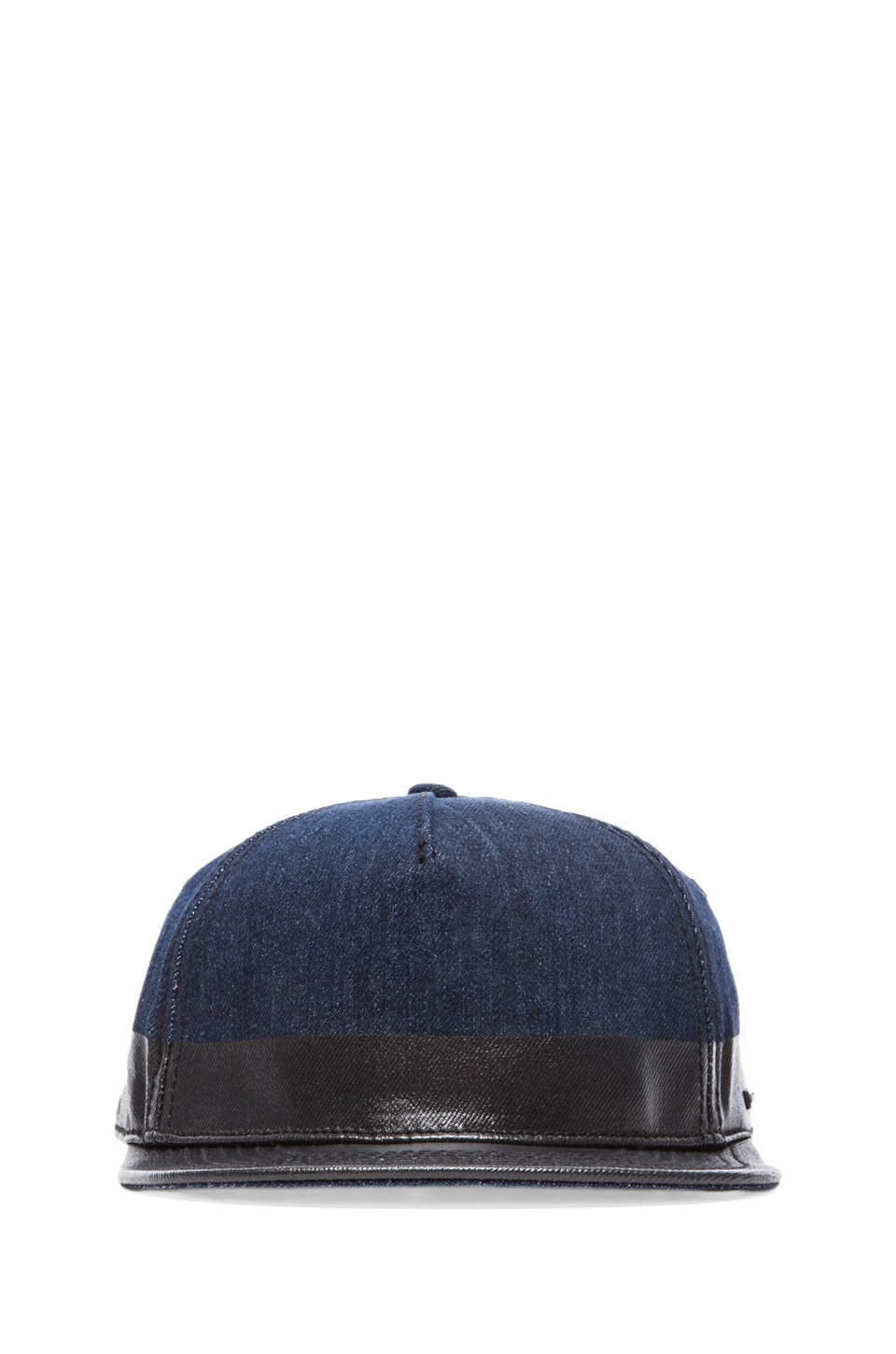Diesel Chantayer Baseball Hat in Denim/Oil