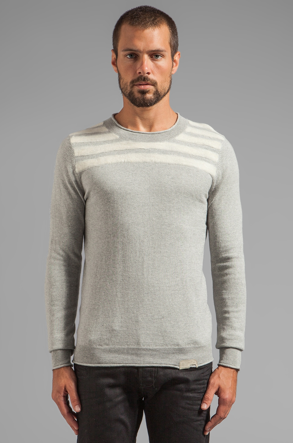 Diesel Gila Sweater in Heather Grey