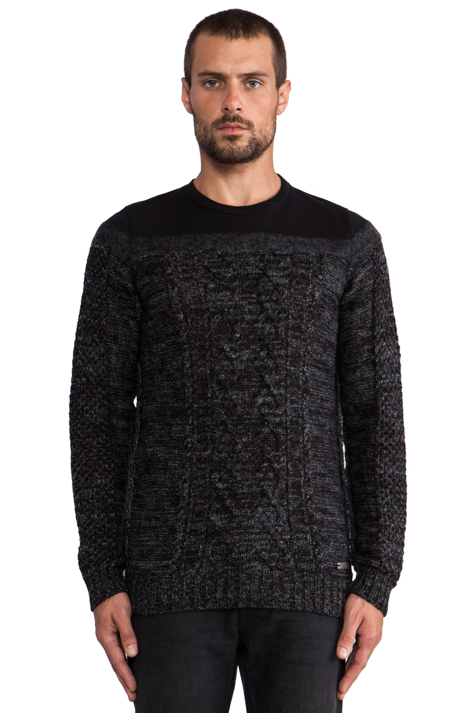 Diesel Boote Sweater in Black