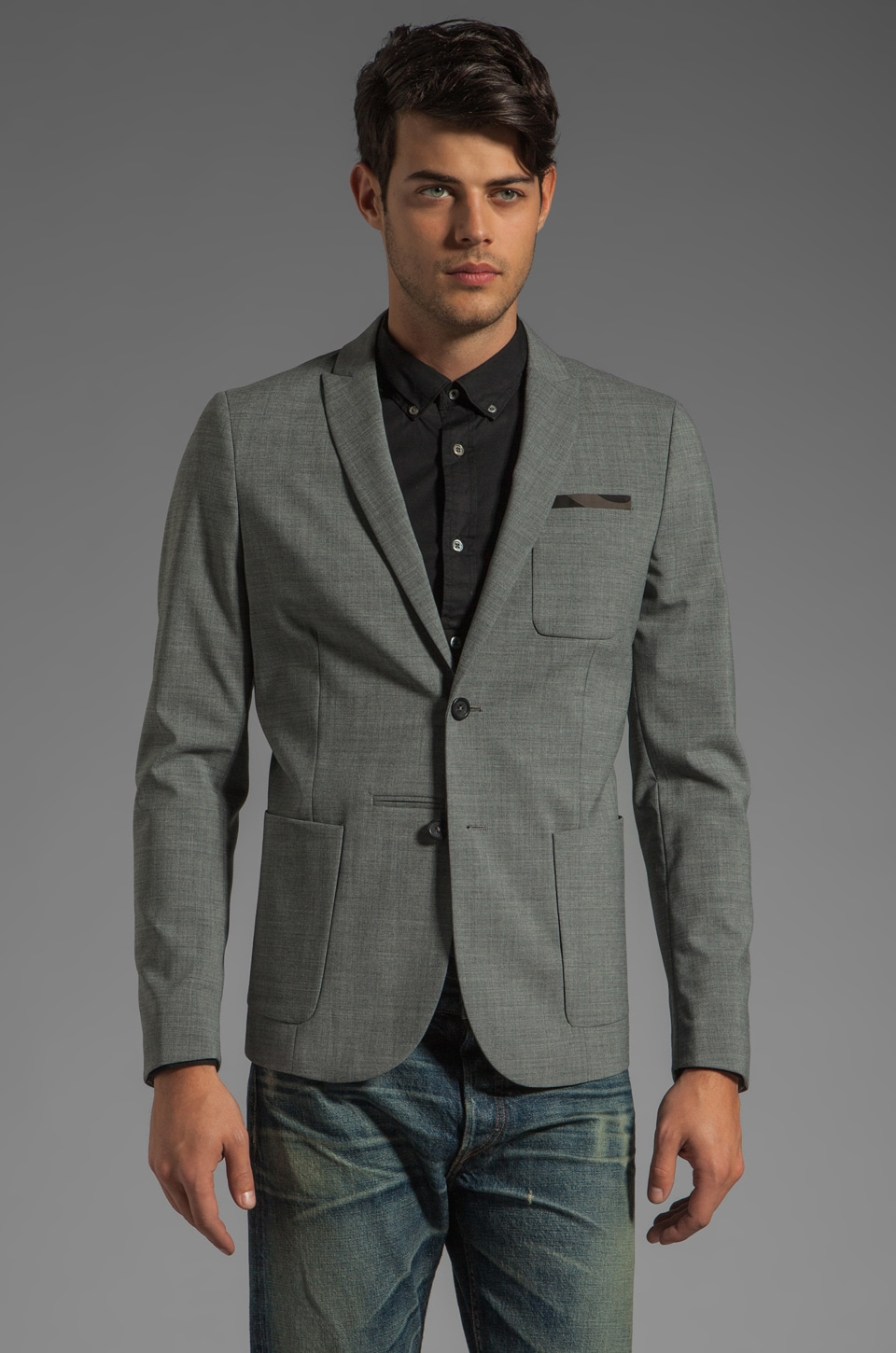 Diesel Jamility Blazer in Light Grey