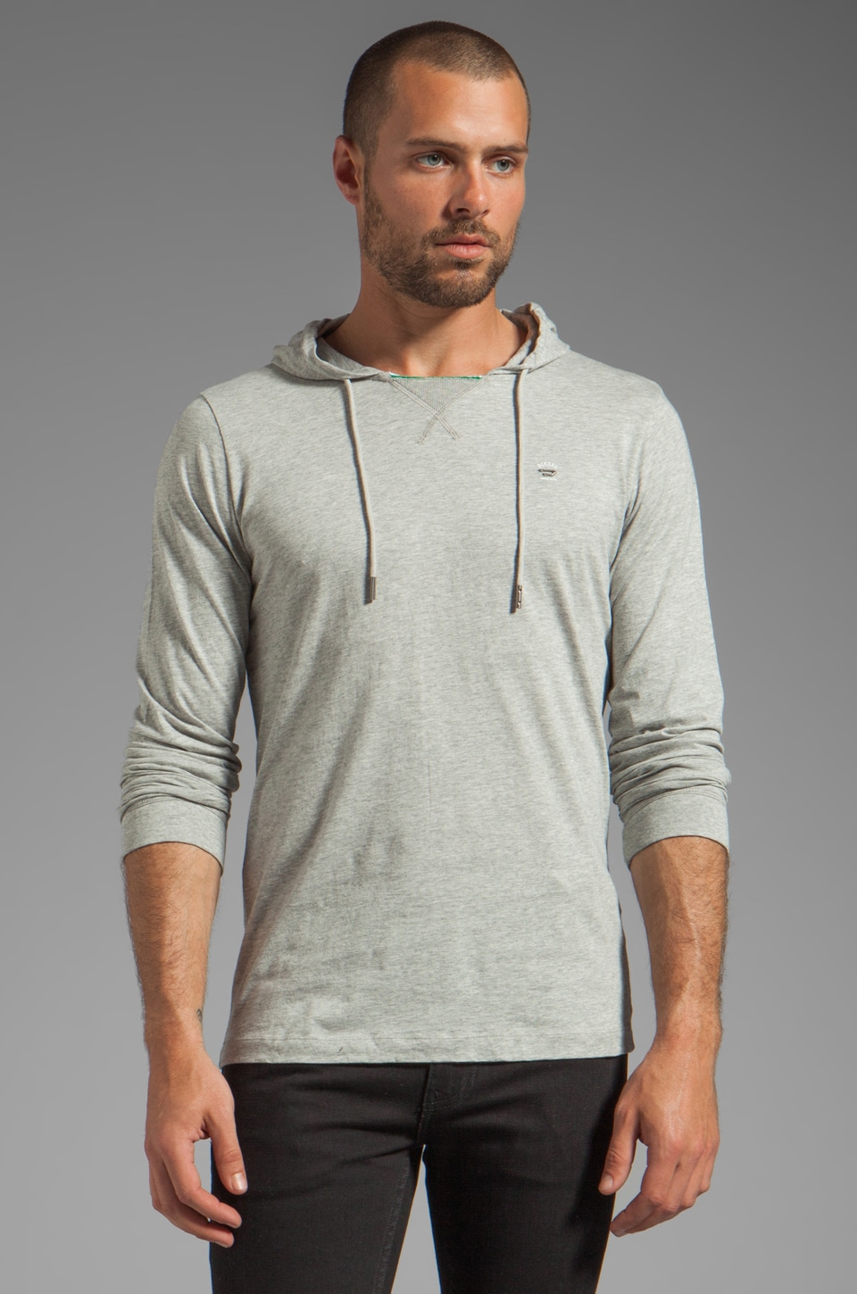 Diesel Someone Hoodie in Heather Grey