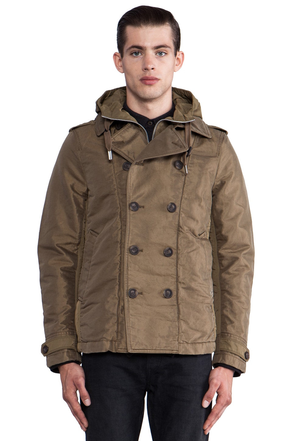 Diesel Watagan Jacket in Olive Green