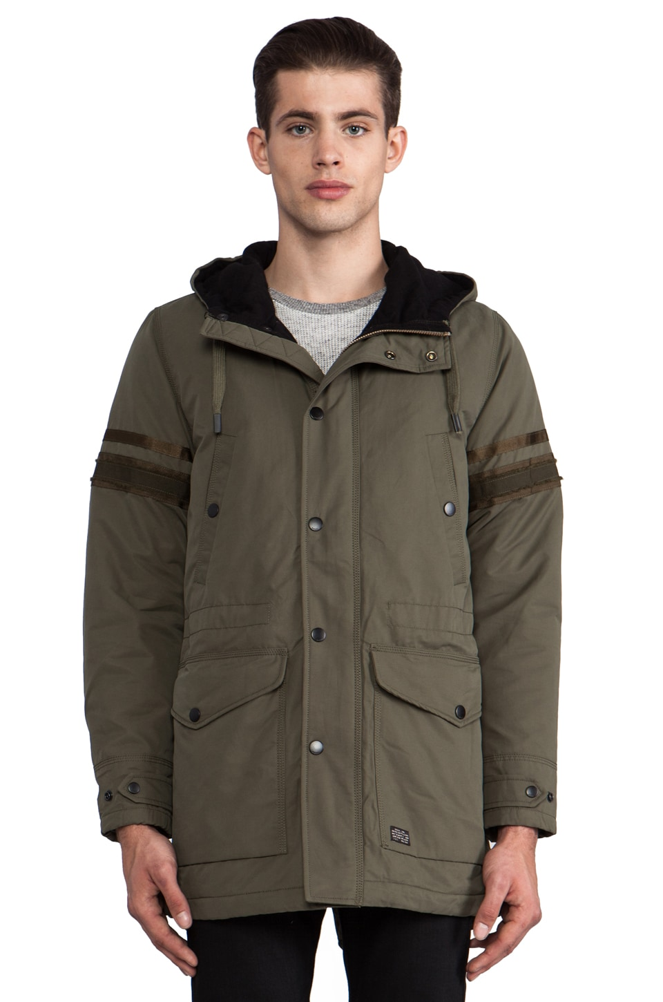 Diesel Eranthe Military Jacket in Dark Olive