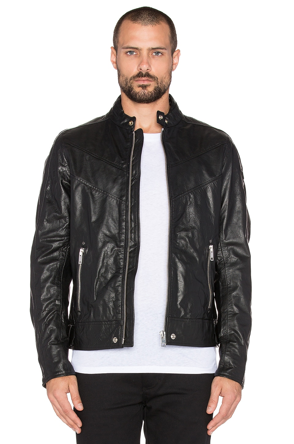 Diesel Reed Leather Jacket in Black | REVOLVE