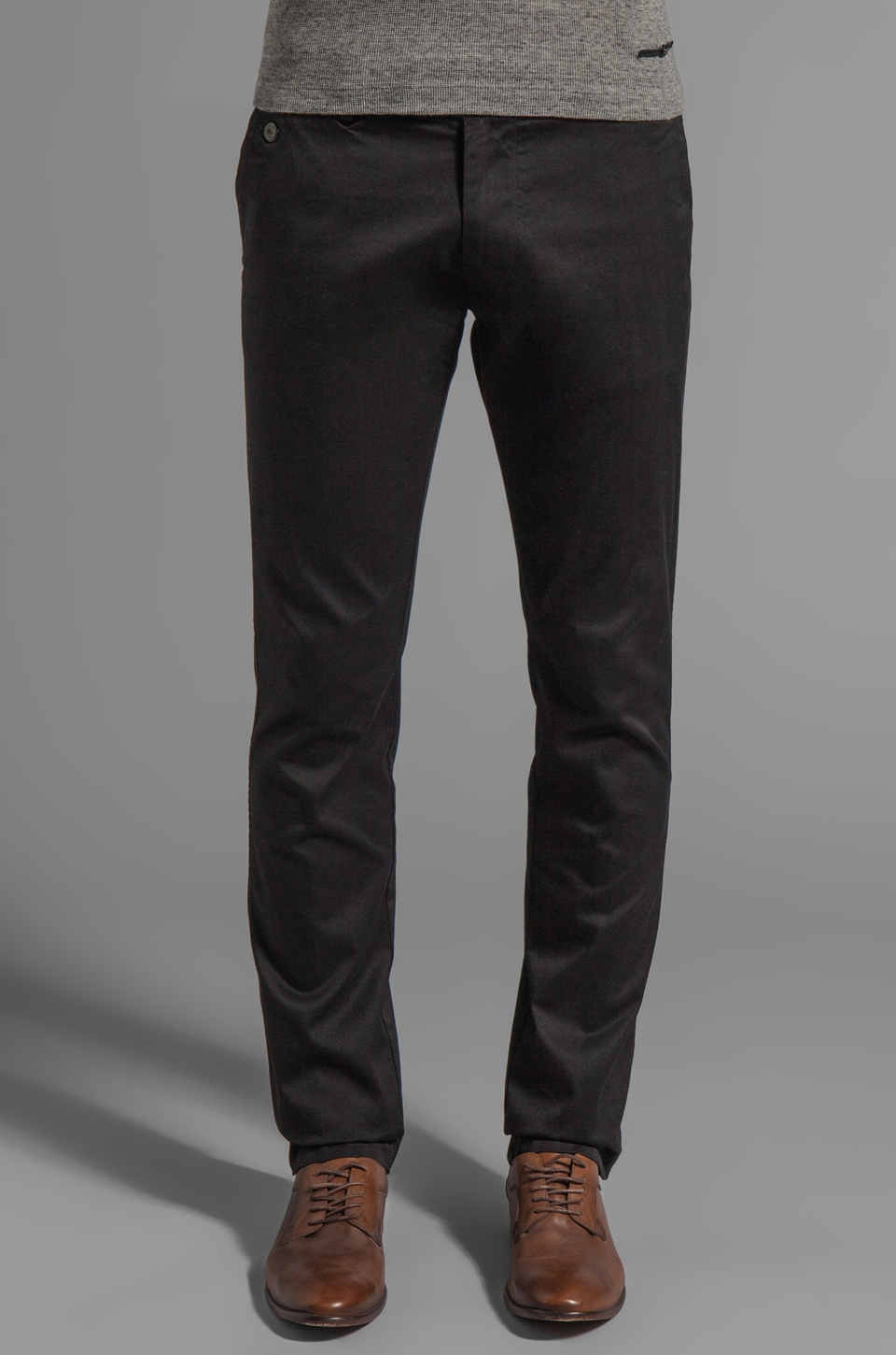 Diesel Chi-Tight Pants in Black Stripe