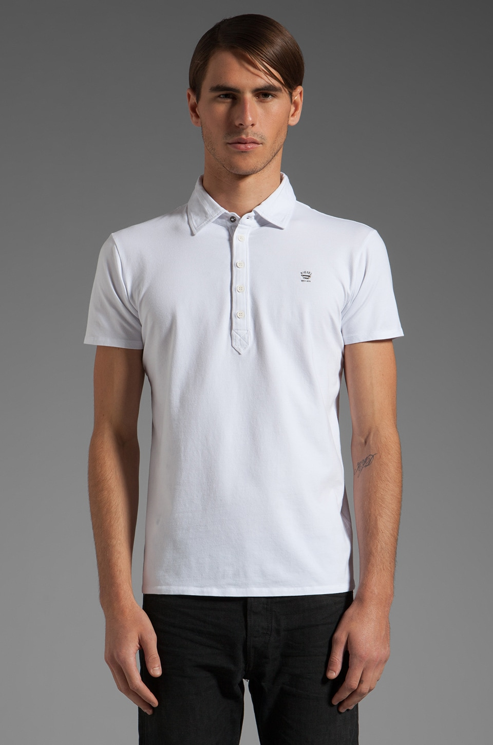 Diesel Alnilamy Polo in White
