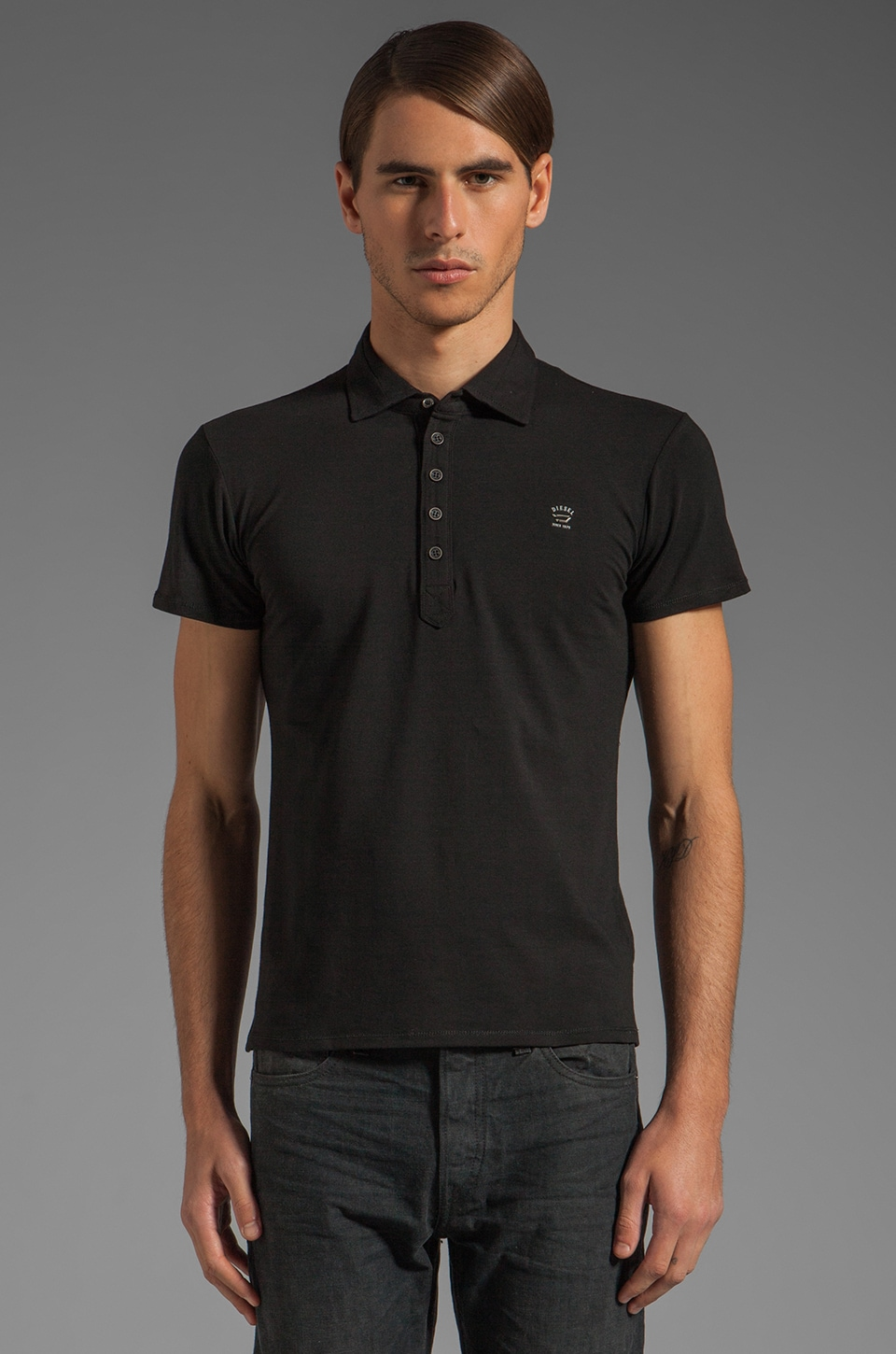 Diesel Alnilamy Polo in Black