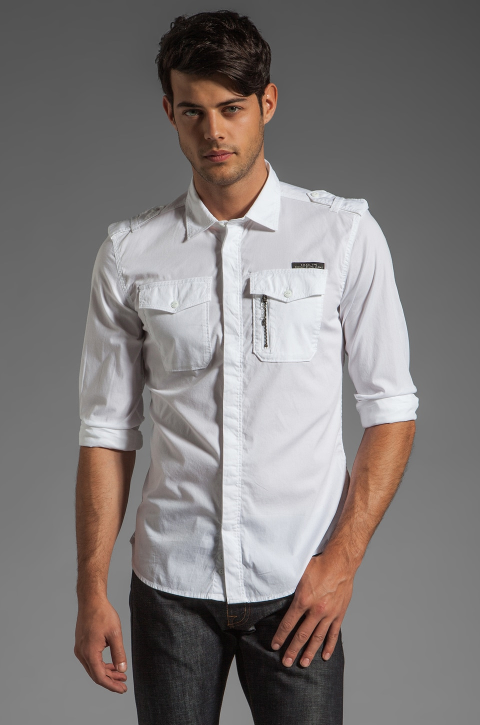 Diesel Siranella Button Down in White