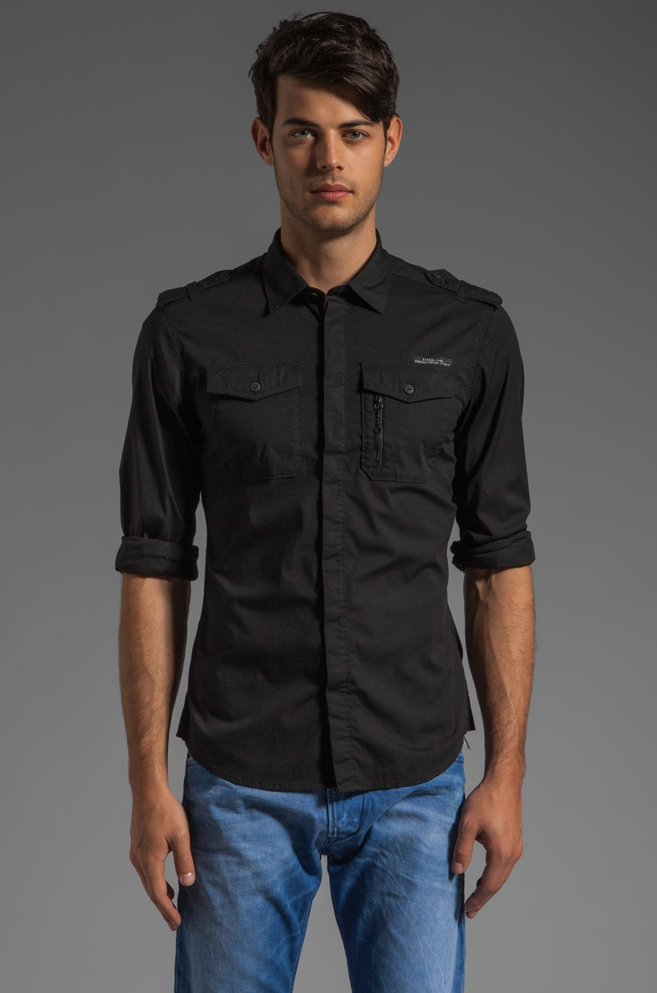 Diesel Siranella Button Down in Black