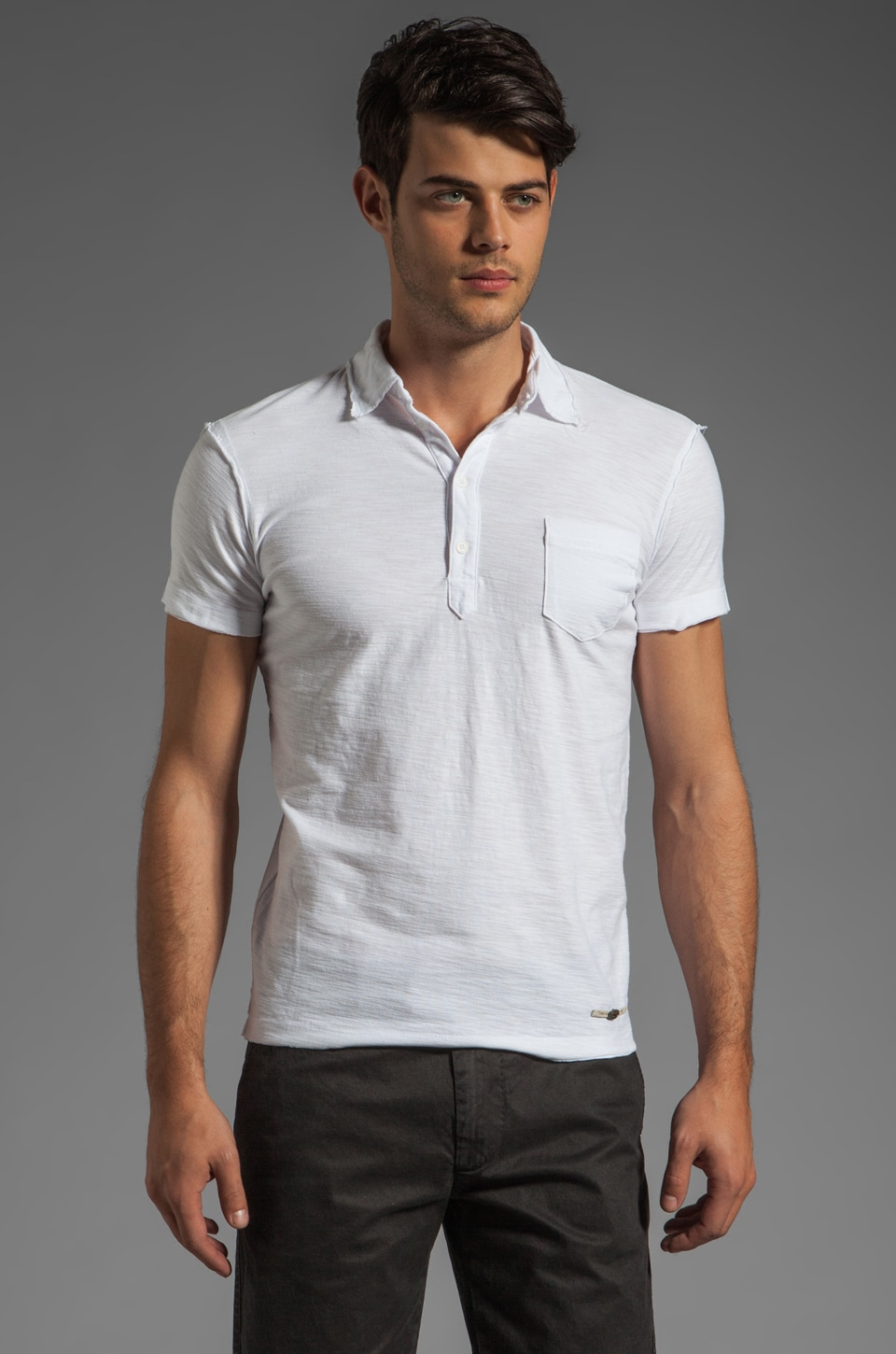Diesel Ajar Polo in White