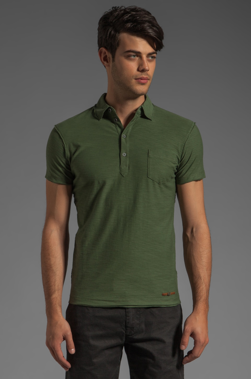Diesel Ajar Polo in Fern Green