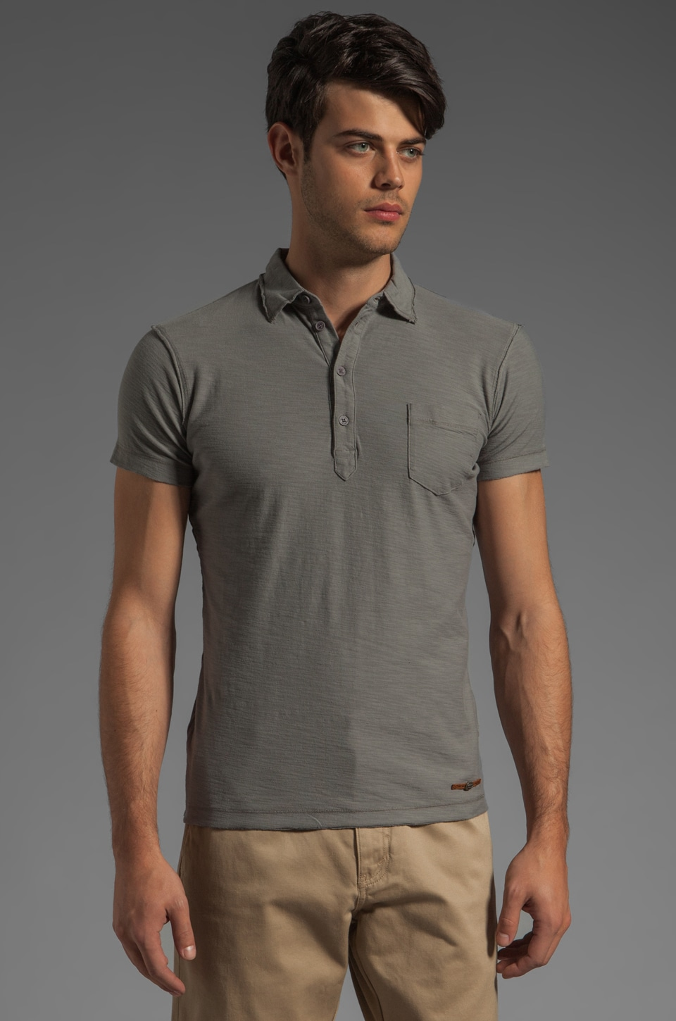 Diesel Ajar Polo in Grey