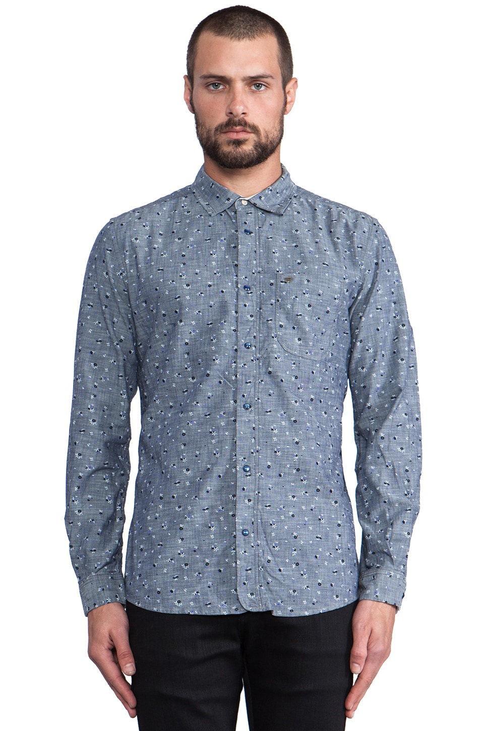 Diesel Sermon Button Down in Navy