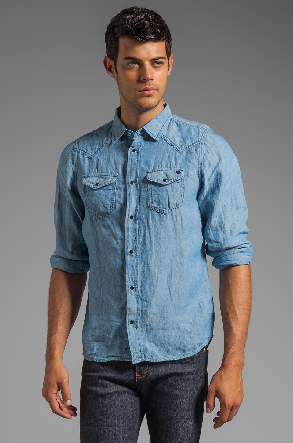 Diesel Sonora Chambray Shirt in Denim