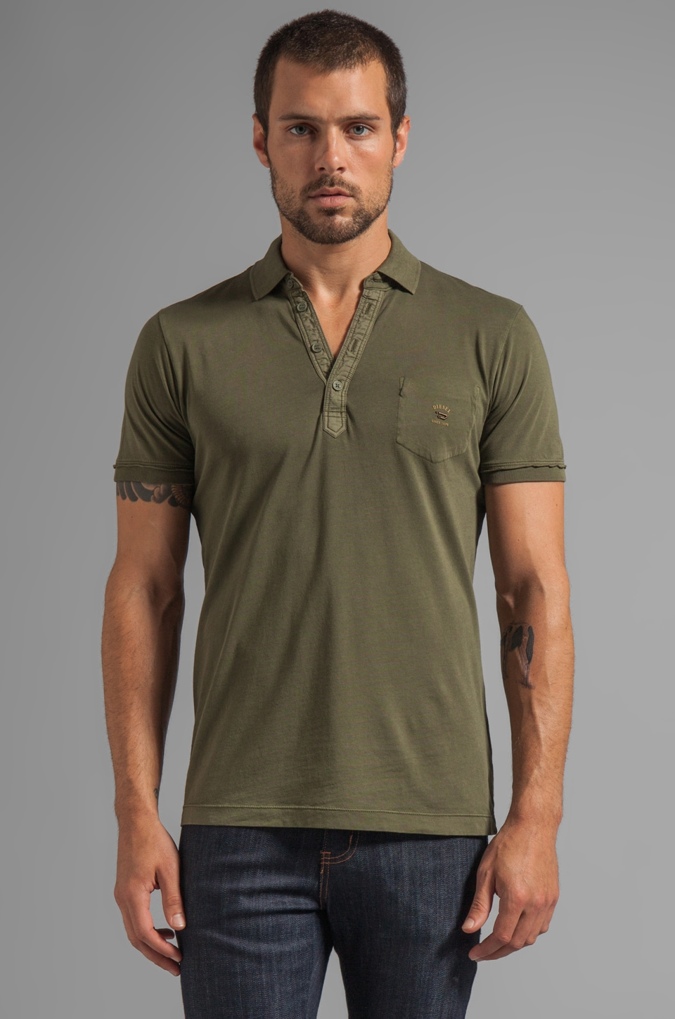 Diesel Erinni Tee in Gingham Green