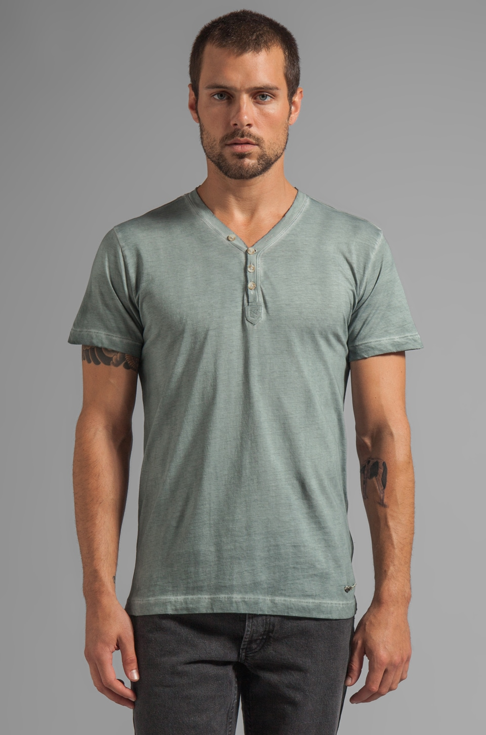 Diesel Malaya Tee in Light Grey