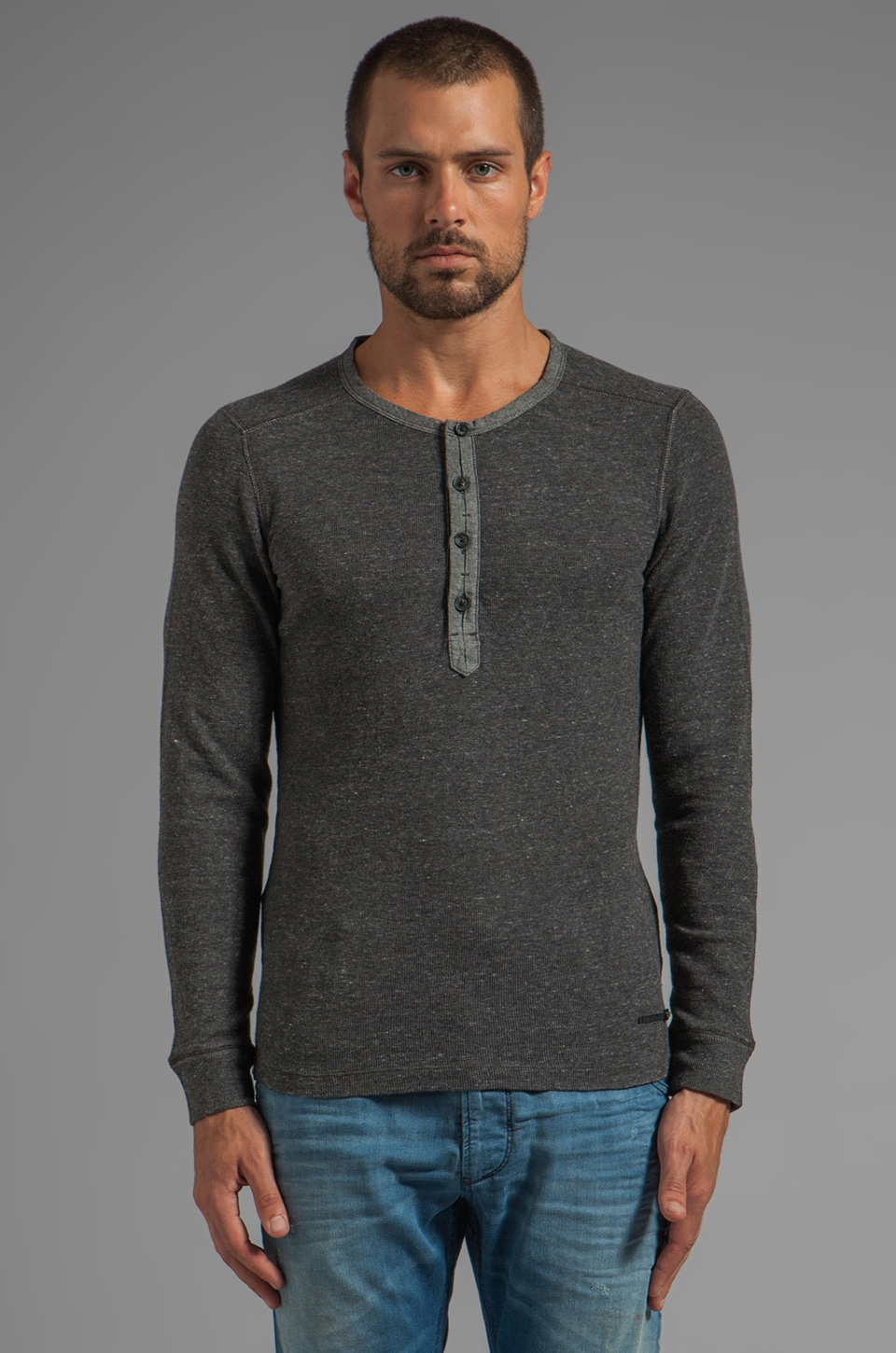 Diesel Yamato Long Sleeve in Smoke Grey