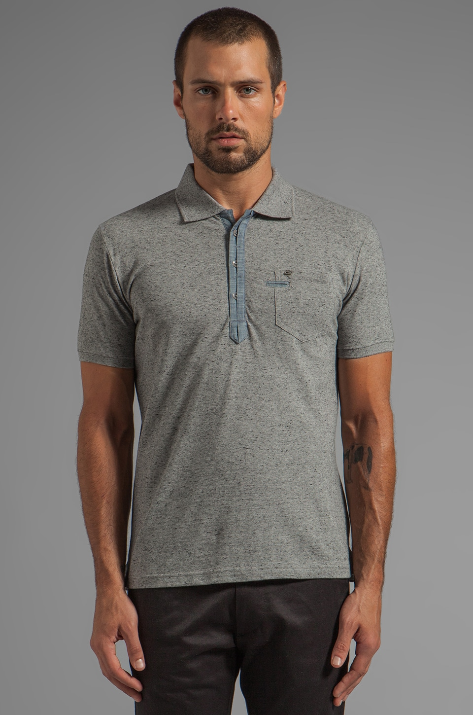 Diesel Admiral Shirt in Charcoal/Grey