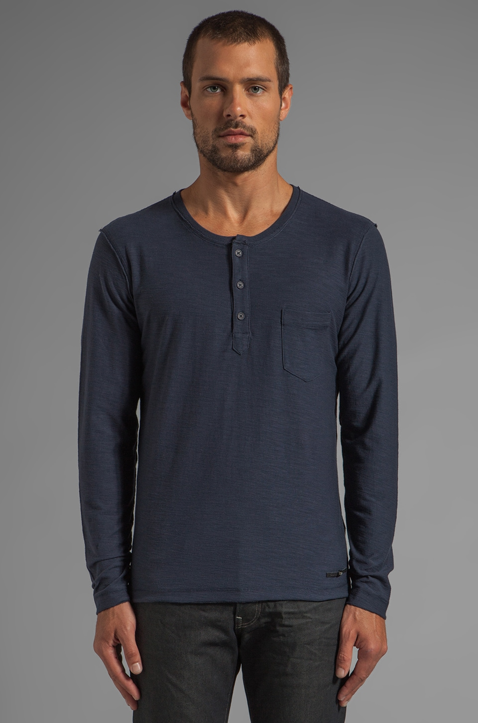 Diesel Canopy Long Sleeve in Navy Blue