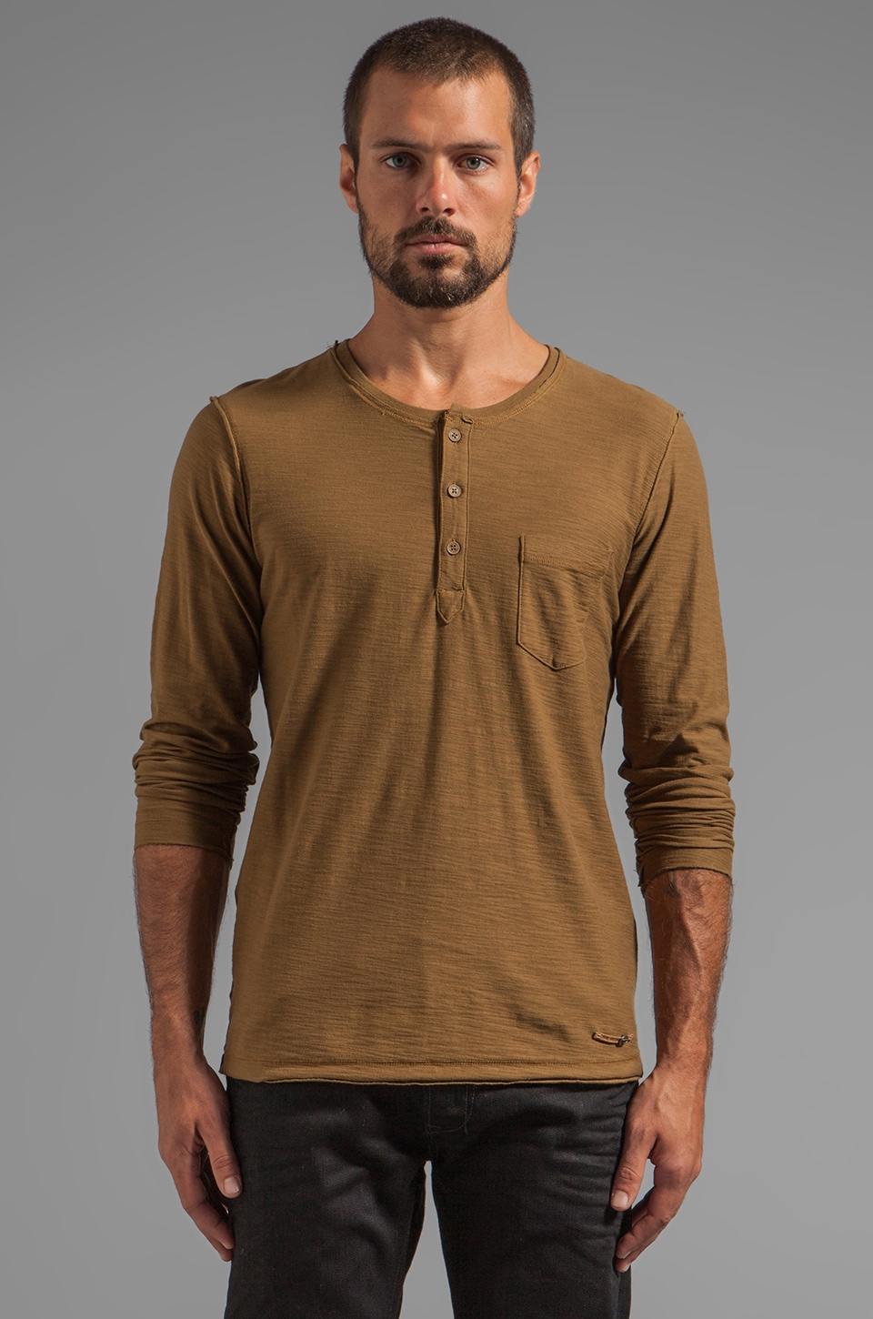 Diesel Canopy Henley in Jungle Green