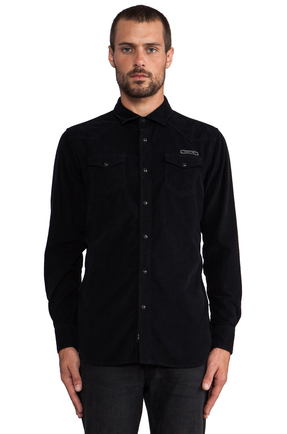 Diesel Carl Button Down in Black