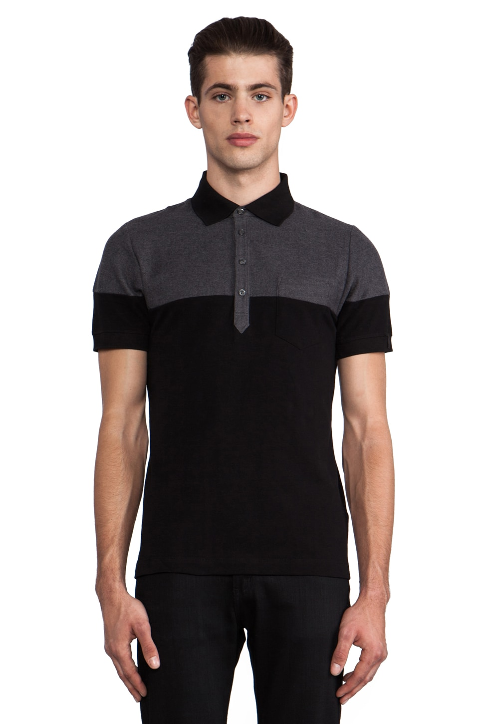 Diesel Loris Polo in Black